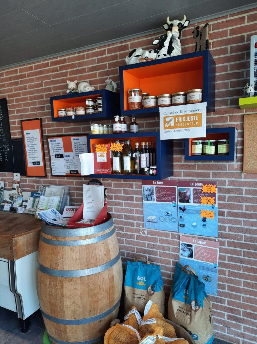 Produits artisanaux belges à la ferme Les Trieux